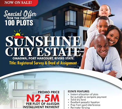 Estate land in Port harcourt